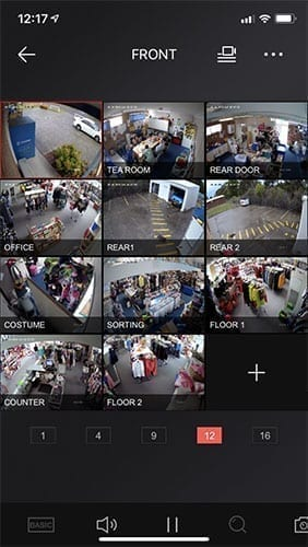 front of shop security camera footage