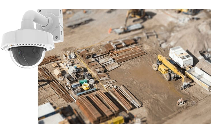 newcastle security construction site cctv camera